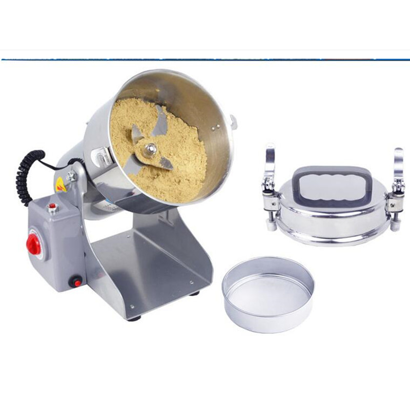 220V Commercial Herb Grain Mill Powder Grinder Machine Chinese Medicine Grinder Ultrafine Grinding With EU Plug high quality 2000g swing type stainless steel electric medicine grinder powder machine ultrafine grinding mill machine