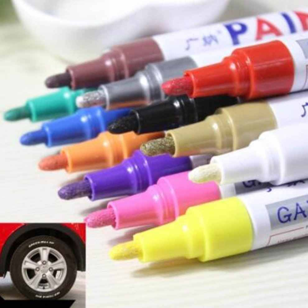 Portable Smooth And Comfortable Write Smoothly Color Pen Tire Rubber Metal Permanent Paint Graffiti Scratch Mark Pen