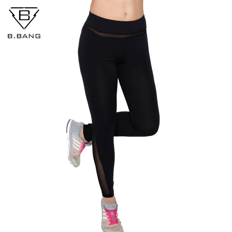 B.BANG Kvinnor Yoga Byxor Elastisk Fitness Sport Leggings Strumpor - Sportkläder och accessoarer