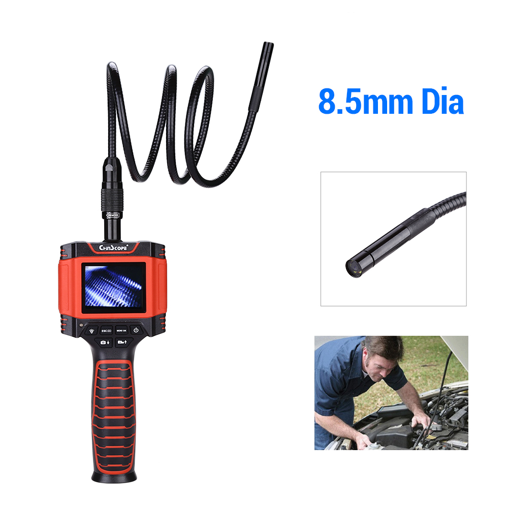 2.31 TFT Monitor Endoscope Borescope Inspection Video Camera 8.5mm 1M Snake Cable Video Camera Car Repair Inspector2.31 TFT Monitor Endoscope Borescope Inspection Video Camera 8.5mm 1M Snake Cable Video Camera Car Repair Inspector
