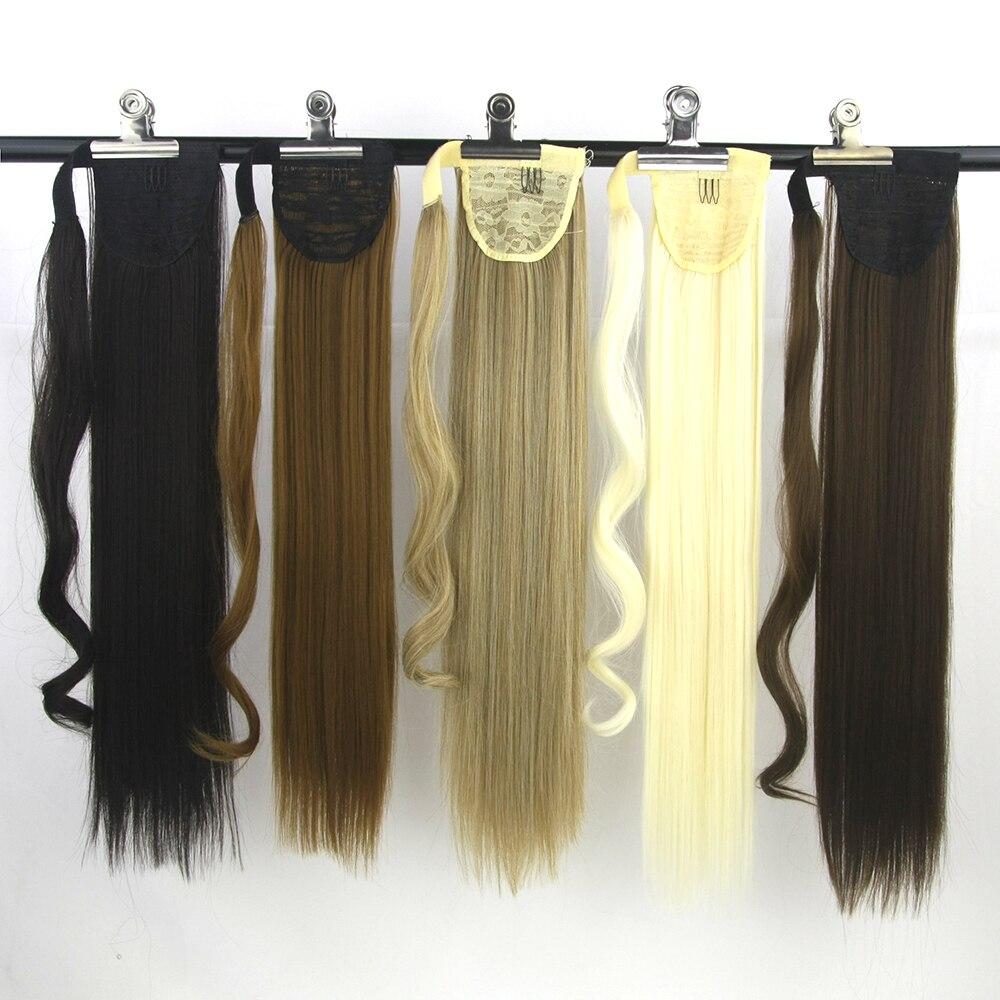 Synthetische Haarverlängerung Soowee Glatt Hochtemperaturfaser Synthetische Haarverlängerungen Blonde Pferdeschwanz Haar Pferdeschwanz Kordelzug Dinge Bequem Machen FüR Kunden