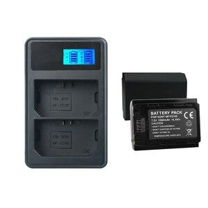 Image 2 - Npfz100 np fz100 bateria NP FZ100 bateria + carregador lcd para sony ILCE 9 a7m3 a7r3 a9/a9r 7rm3 BC QZ1 alpha 9 9 s 9r câmera digital