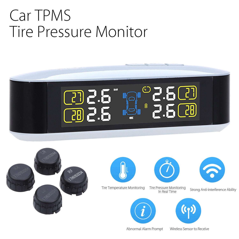 Blueskysea Car font b TPMS b font Tire Pressure Wireless Monitoring Temperature Colorful Screen PSI BAR