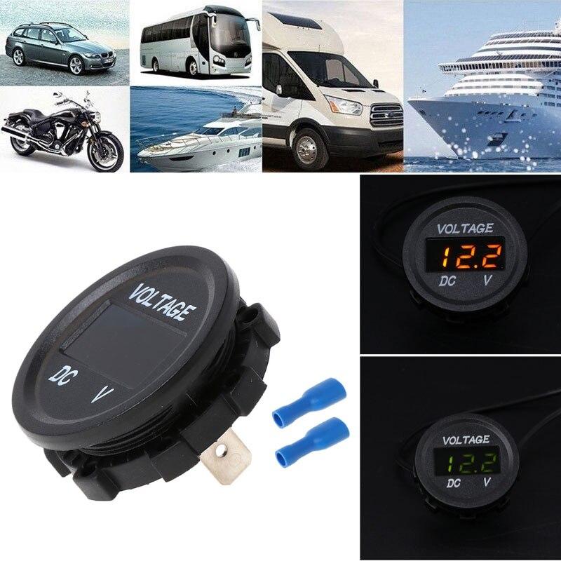 Черный измеритель напряжения дисплей напряжения модифицированный Универсальный Вольтметр для лодки