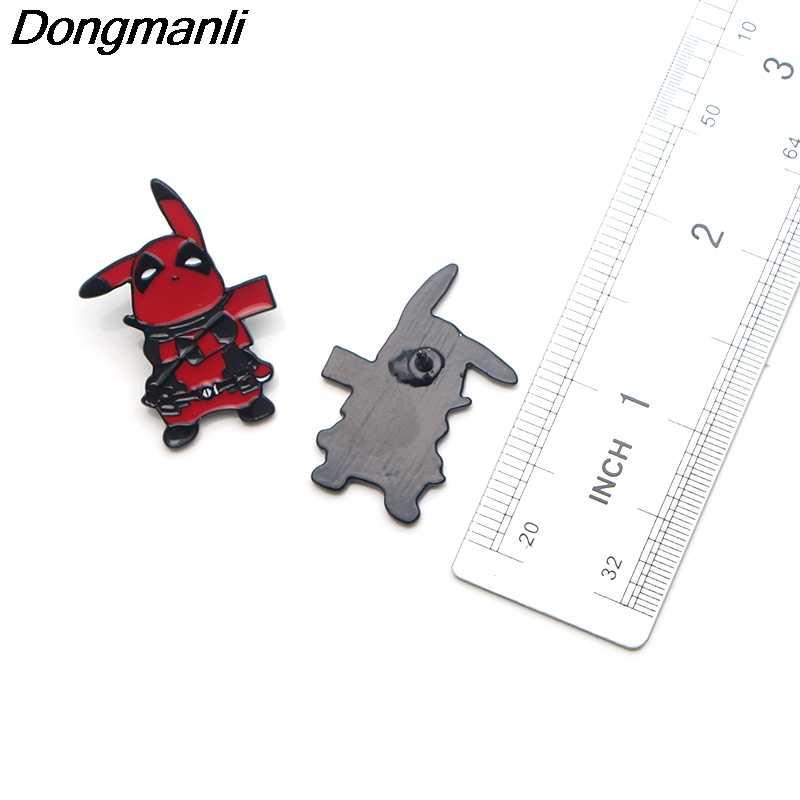 P3566 Dongmanli Cosplay Deadpool Pikachu Sveglio Dello Smalto del Metallo Spilli e Spille per la Moda Risvolto Spille Borse Zaino Distintivo Regali