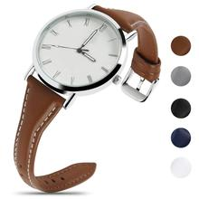 Fullmosa Sliim Leather Watch Band, Classic Narrow Leather Watch Strap with Quick Release for Men Women 18/20/22mm 5 Colors