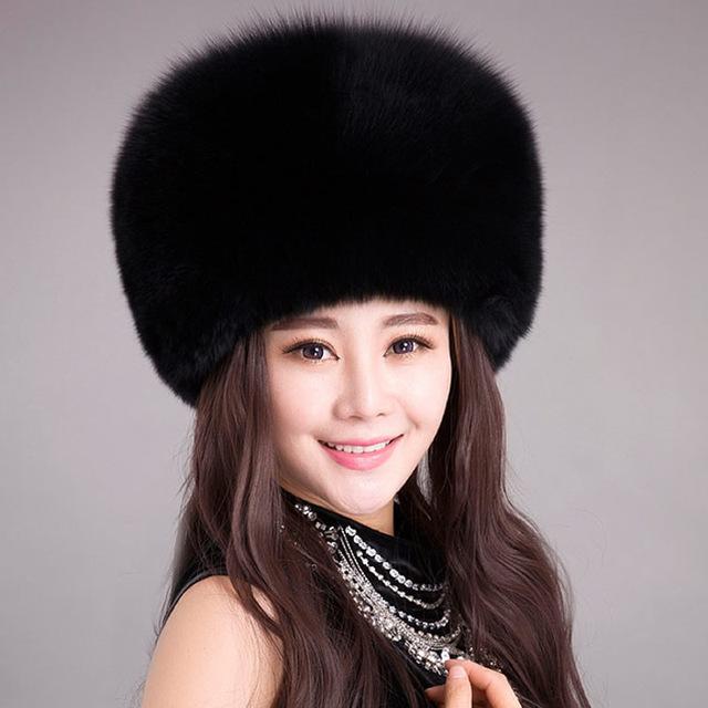 Nova Moda Pele Falsa Do Exército Cap Chapéu de Inverno Quente Térmica para as mulheres de alta qualidade Acessórios de Vestuário Para Senhora