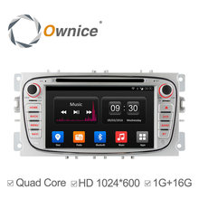 Ownice Android 4.4 2 Din Car DVD Player For FORD Mondeo S-MAX FOCUS 2 2008-2011 Radio GPS Navi BT 1024*600 support Ipod DAB+ 3G