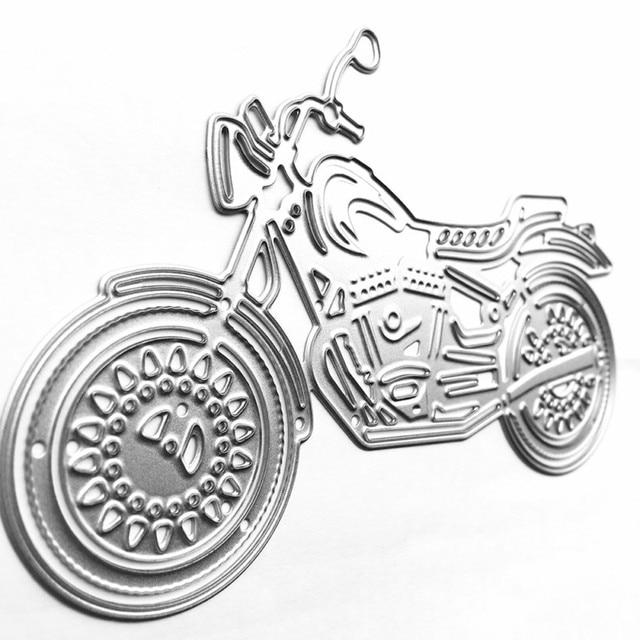 1 Unidades de Motocicletas Cool Metal Plantillas Plantillas de Estampación En Relieve DIY Papel Scrapbooking Álbum de fotos de BRICOLAJE Tarjetas de Troqueles De Corte