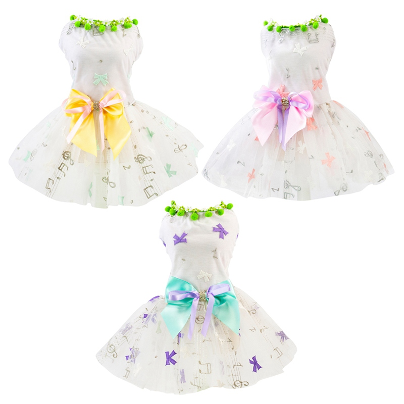 Small Pet Puppy <font><b>Dog</b></font> Cat Printed Heart Lace Skirt Princess Tutu <font><b>Dress</b></font> Wedding Party <font><b>Dresses</b></font> Clothes Apparel S M L XL <font><b>XXL</b></font> image