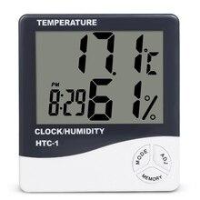 Комнатный ЖК-электронный измеритель температуры и влажности Цифровой термометр гигрометр Метеостанция Будильник HTC-1