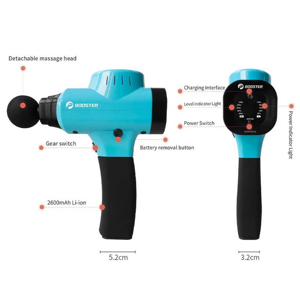 Masaż mięśni pistolet masażer ciała X2 specjalista od zarządzania bólem z 9 prędkości rozluźnienie ciała odchudzanie kształtowanie ulgę w bólu z 4 głowice