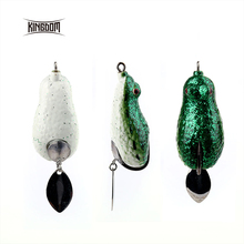 Kingdom 60mm 18g Soft Plastic Fishing lures Frog lure With Hook Top Water model lwb96