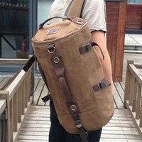 Free Shipping High Quality Promotion Fashion Designer Vintage Canvas Big Size Men Travel Bags Luggage Backpacks