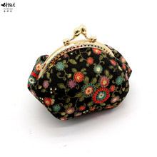 New Mini Vintage Flowers Floral Wedding Coin Purse Kiss Lock Wallets Girls Lady Women Small Change Purses Hasp Wallet Bag(China)
