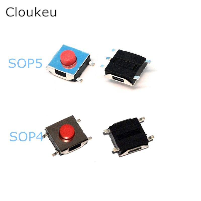 50pcs flat red smd 6x6 tact push button switch 6 6 3 1mm 2 5 2 7 3 4