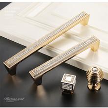 MAXMIA 1 sztuk złoty diamentowy uchwyt ktv kryształowe okucie szafki uchwyt uchwyt drzwiowy ze stopu cynku wysokiej jakości uchwyt meblowy tanie tanio Meble uchwyt i pokrętła Szkło kryształowe 192mm MAXMIX 96mm Maszyny do obróbki drewna Europejski