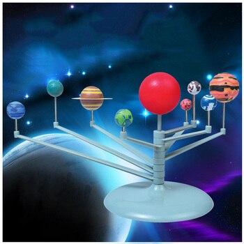 Y Educación Nueve Planetas Modelo Ensamblado Instrumento Sistema Niños Ciencia Diy E03 Juguetes Rompecabezas Planetario Solar Luminosos 45ARjL
