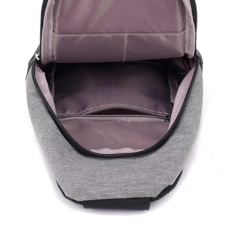 Nueva llegada 2019 bolso de hombro para hombre, bolso de hombro con carga USB, bandolera para hombre, bolso de pecho antirrobo, bolso escolar de verano, Mensajero de viaje Casual bolsa