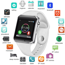 купить Smart Watch Men Women Support SIM TF Card Bluetooth Call Pedometer Waterproof Sport Smartwatch Android IOS relogio masculino по цене 587.38 рублей