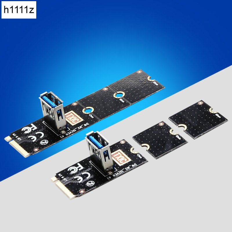 NGFF to PCI-E Riser Card M2 Slot to PCIe Expansion Card Convertor USB 3.0 Extender Adapter for Graphics Cards for BTC Miner new pci e 1x expansion kit 1 to 3 ports and to 4 pci express witch multiplier expander hub riser expansion card xxm