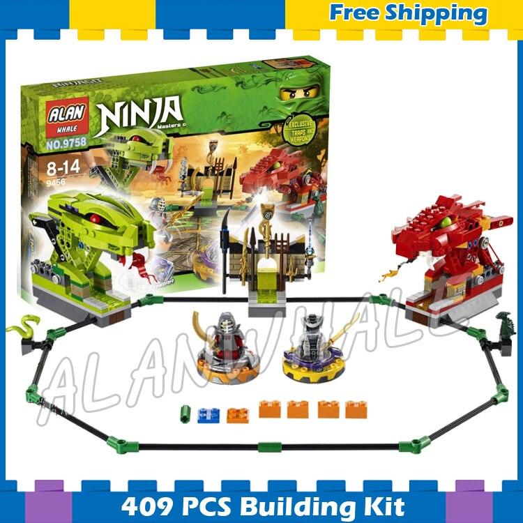409 pièces nouveau BELA 9758 Ninja Spinner bataille serpent Dragon blocs de Construction ensembles de Construction de puzzle Compatible avec Lego