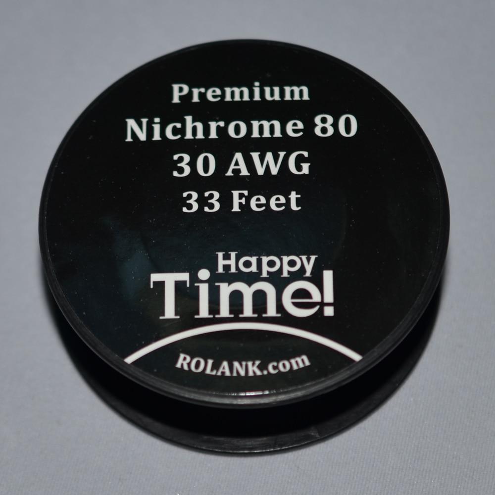 1pcs AWG 32 30 28 26 24 Gauge nichrome 80 e cigarette resistance ...