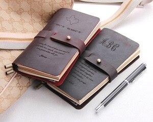 Image 3 - Skórzany dziennik, wykonane na zamówienie, rocznika wielokrotnego napełniania dziennik podróży, skóra notebooka podróżnika