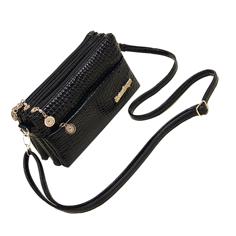 New Fashion 2017 Small Shoulder Bag Crocodile Pattern Bag Women Messenger Bags f