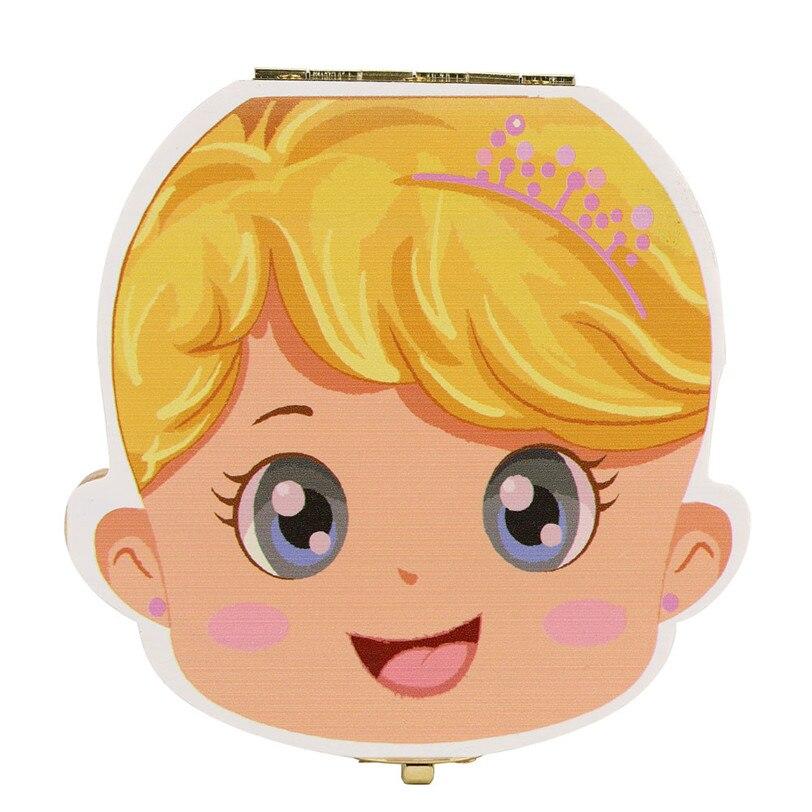 Tand Box Organizer voor Baby Melk Tanden Besparen Hout Opbergdoos - Home opslag en organisatie