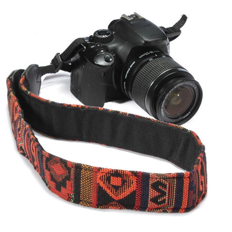 Ethnic Style Chic Vintage Camera SLR Shoulder Neck Strap Belt for Nikon for Canon for Sony for Panasonic for Pentax Accessory