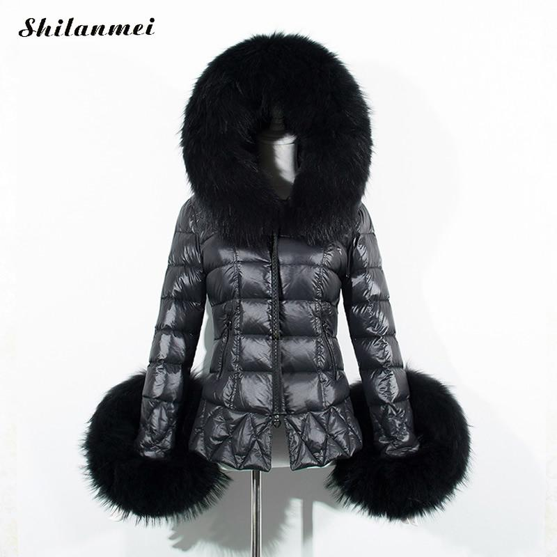 2017 Winter Women Parkas for Coat Big Raccon Fur Fashion Female Down Jacket With a Hood