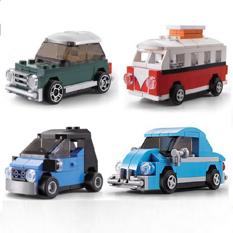 City Technic Creator Mini Smart Volkswagen Beetle Car Model Building Blocks Enlighten Figure Toys For Children Compatible Lego 3345 technic city series mini container truck model building blocks enlighten figure toys for children compatible 8065