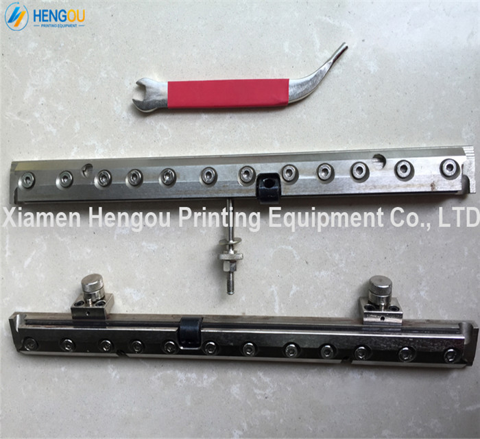 1 set high quality multicolor quick action plate clamp for heidelberg gto 46 printing machine 1 set heidelberg gto pushing paper regulation