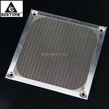 2000Pcs Gdstime 120mm 12cm Silver PC Cooler Fan Aluminum Dustproof Mesh Filter