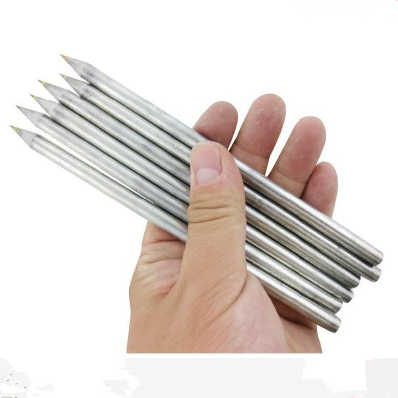 2pcs/lot Professional Tile Cutter Cutting Machine Glass Cutter Carbide Scriber Hard Metal Pen Engraver Glass Knife Cutting Tool