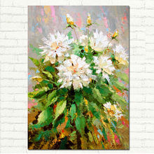 Peonies Painting – Hand Painted Palette Knife Wall Art Floral oil painting on canvas Modern Wall Decoration Painting