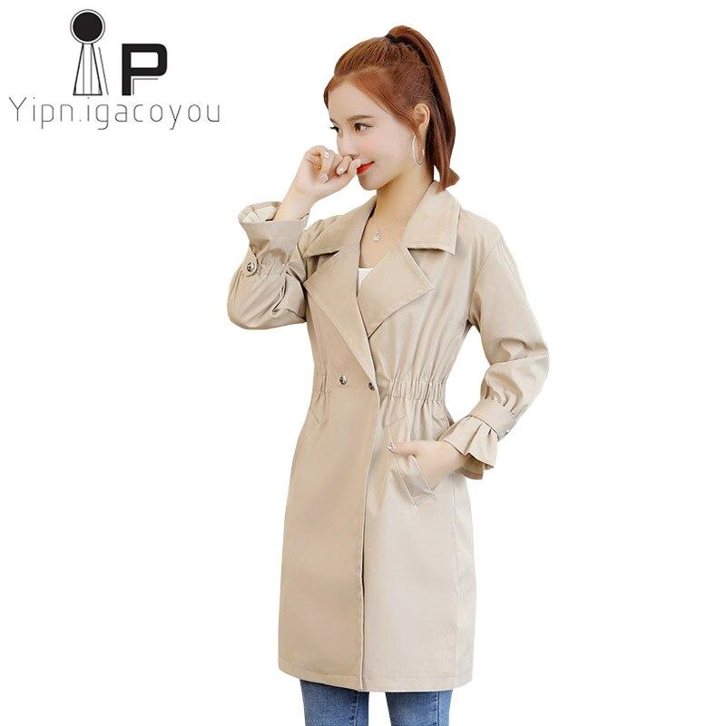 wholesale dealer 55ac2 5e944 Casual-Trench-Coat-Pour-Femmes -Double-Boutonnage-Coupe-Vent-Printemps-Automne-Grande-taille-Long-Manteau- Femmes.jpg