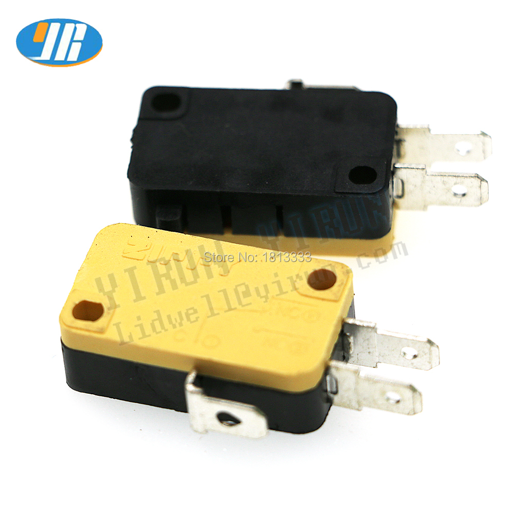 20pcs 3pin ZIPPY Micro Switches 4.8mm Terminals Male Connector Microswitches For Arcade Push Button Coin Machine Game Accessorie
