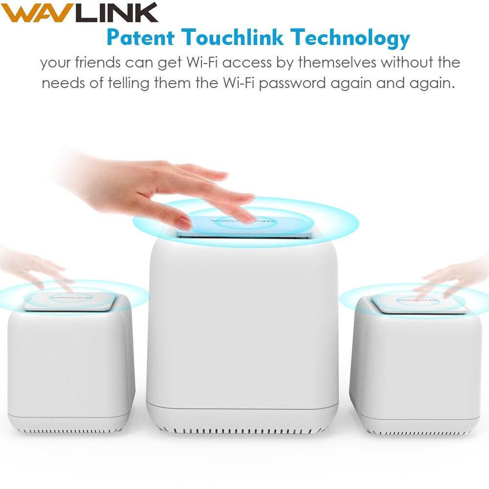 Système intelligent de maille Wi-Fi à la maison AC1200 routeur WIFI sans fil Gigabit Ethernet double bande 2.4G/5Ghz répéteur wifi intelligent 1200mbps