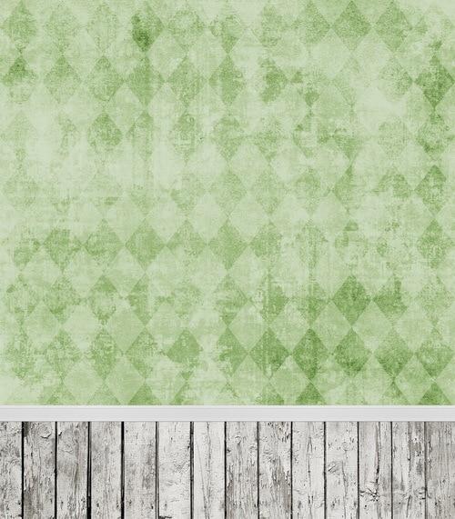 5x7ft vinyl cloth green art wall wood floor photography background for wedding newborn photo studio backdrops CM-6733 wood floor wheel photo background vinyl studio photography backdrops prop diy