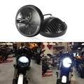 """7 """"40 Вт Круглая Фара Мотоцикла Daymaker КРИ Чипы, СВЕТОДИОДНЫЕ Привет-Lo Луч Мотоцикл Лампы для Harley Yamaha V-star 650 1100 Road Star"""