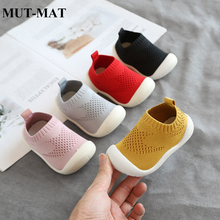 2019 spring and autumn baby toddler shoes soft bottom boys girls breathable knitted