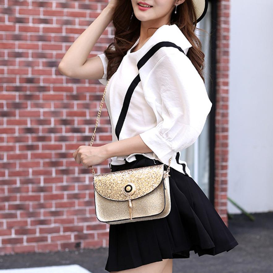 Chain Shoulder Bag Women Beautiful Handbag Sequin Tassel Small Crossbody  Bags For Women Luxury Crossbody Bag -in Top-Handle Bags from Luggage   Bags  on ... ec690de71c5b9