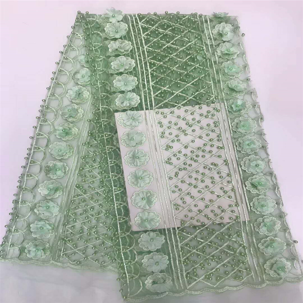 African Lace Fabric 2018 3D Appliques Fabric High Quality Beaded Lace Fabric African French Tulle Lace For Wedding HJ649-1  African Lace Fabric 2018 3D Appliques Fabric High Quality Beaded Lace Fabric African French Tulle Lace For Wedding HJ649-1