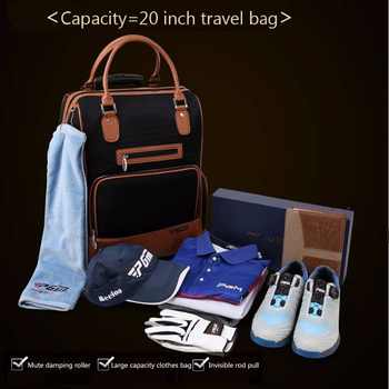 PGM PU Golf Clothes Bag Durable Traveling Bag with Wheel Carry Bag for Men and Women Golf Clothes Luggage