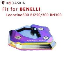 KODASKIN Motorcycle CNC Aluminum Side Stand Enlarge for Benelli Leoncino500 BJ250