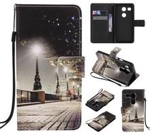 Красочный Узор город ночной вид слот для карты бумажник PU Кожа Стенд Флип Новый чехол для LG Nexus 5X случае