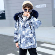 Boy Jacket 12 Children's Clothing 13 Boys 14 Winter Clothing 10 Coat 8 Thick Duck Down Thickening Outwear 9 Children -30 Degrees