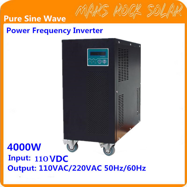 4KW Pure Sine Wave Off Grid Inverter 110VDC-110/220VAC 50/60Hz with City Grid Charge Function Power Frequency Inverter 1000w off grid inverter with charger surge power 2000w dc12v to ac220v 60hz pure sine wave inverter with charge battery function